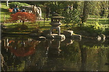 TQ2479 : View of the pond in the Kyoto Gardens in Holland Park #7 by Robert Lamb
