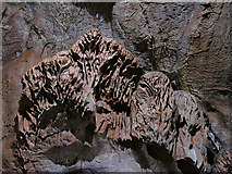 SX9364 : Rock formations, Kents Cavern - the owl by Stephen Craven