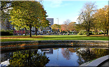 NZ2465 : Parkland  at Newcastle Civic Centre by Trevor Littlewood