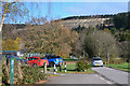 NX9889 : Car park, Forest of Ae by Jim Barton