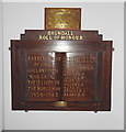 TG3208 : Second World War Memorial in the Memorial Hall by Adrian S Pye