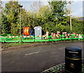 SO7708 : Green temporary barriers, Hyde Lane, Whitminster by Jaggery