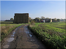 TL4352 : Bridle path and bales by John Sutton