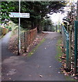 ST1580 : Path towards Whitchurch railway station, Cardiff by Jaggery