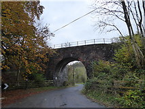 SO1872 : Railway arch and bridge over the road at Gravel by Jeremy Bolwell