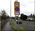 ST1580 : End of Clearway sign, Northern Avenue, Cardiff by Jaggery