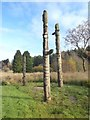 NY7976 : Old totem poles by Oliver Dixon