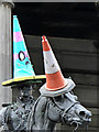 NS5965 : Wellington and traffic cones by Thomas Nugent