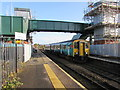 ST1368 : Barry Island train arriving at Cadoxton station by Jaggery