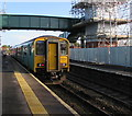ST1368 : Aberdare train at Cadoxton station by Jaggery