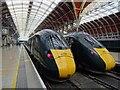 TQ2681 : GWR trains in Paddington Station by Philip Halling