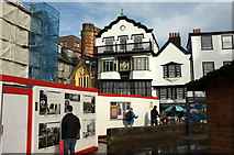 SX9292 : Information on Cathedral Green, Exeter by Derek Harper