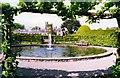 SD4984 : Ornamental Pond at Levens Hall by Peter Jeffery