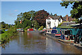 SJ9726 : Canal boatyard near Weston in Staffordshire by Roger  Kidd