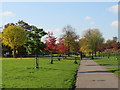 TQ3277 : Autumn in Burgess Park, near Camberwell by Malc McDonald