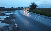 TF4403 : Sharp corner on March Road, Coldham by David Howard