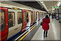 TQ3180 : Platform, Blackfriars Underground Station by Rossographer