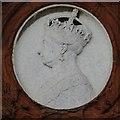 SP0687 : Plaque of Queen Victoria by Philip Halling
