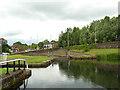 NS5669 : Maryhill Locks - second basin by Stephen Craven