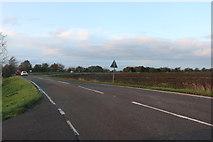 TL3781 : Chatteris Road on Old Halves Fen by David Howard