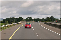 R6558 : Northbound M7 at Junction 28 by David Dixon