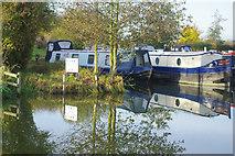 SP9122 : Grove Lock Marina by Stephen McKay