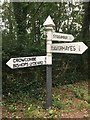 ST1137 : SCC Finger post on Stogumber Hill at junction with Cookley Lane by Marika Reinholds