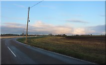 TL3782 : Chatteris Road on Old Halves Fen by David Howard