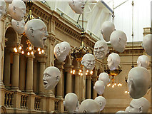 NS5666 : Floating heads, Kelvingrove Museum by Stephen Craven