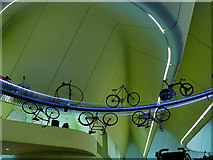 NS5565 : Bicycles in Glasgow's Riverside Museum by Stephen Craven