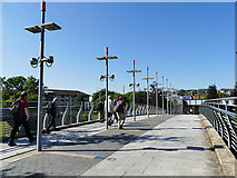 NS5566 : Footbridge over the A814 in Partick by Stephen Craven