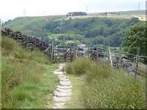 SD9321 : The Pennine Bridleway Mary Towneley loop near South Hollingworth Farm by Dave Kelly