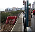 ST1876 : Red buffer stop at the end of the line, platform 1, Cardiff Queen Street station by Jaggery