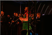TQ1985 : View of the London Community Choir performing at the Wembley Winterfest launch event #2 by Robert Lamb