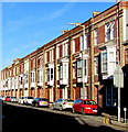SS5099 : Row of three-storey housing, Station Road, Llanelli by Jaggery