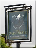 TQ1293 : Sign for The Partridge, St. George's Drive by Mike Quinn