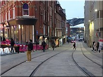 SP0686 : New tram track on Pinfold Street by Philip Halling