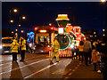 SD3347 : Illuminated Tram at Fishermans Walk by David Dixon