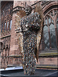 SJ4066 : The Knife Angel at Chester Cathedral - 1 by John S Turner