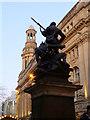 SJ8398 : Boer War Memorial and Royal Exchange, St Ann's Square by David Dixon
