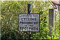 TQ1656 : No cycling by Ian Capper