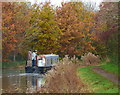 SP7389 : Narrowboat on the Market Harborough Arm of the Grand Union Canal by Mat Fascione