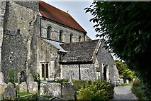 TQ1711 : Steyning, St. Andrew and St. Cuthman Church: c15th south porch by Michael Garlick