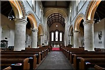 TQ1711 : Steyning, St. Andrew and St. Cuthman Church: Mid c12th nave by Michael Garlick