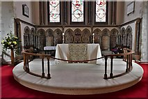 TQ1711 : Steyning, St. Andrew and St. Cuthman Church: The altar by Michael Garlick