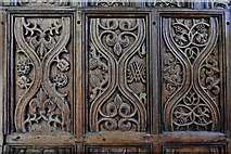 TQ1711 : Steyning, St. Andrew and St. Cuthman Church: Beautifully carved Tudor screen (1522) 2 by Michael Garlick