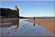 NS3119 : Greenan Castle by Walter Baxter