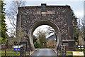 NN9159 : Memorial arch, Clunie Power Station by Jim Barton