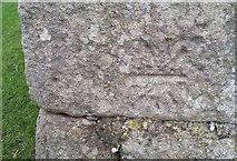 SD7659 : Ordnance Survey Cut Mark by Adrian Dust
