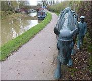 SP6989 : Sculpture along the towpath near Foxton Locks by Mat Fascione